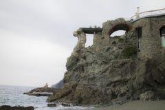 Αγάλματα βράχου σε Cinque Terre στην Ιταλία Στοκ φωτογραφίες με δικαίωμα ελεύθερης χρήσης