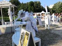 Αγάλματα διαβίωσης - θέατρα CPAA, Κίνα απόθεμα βίντεο