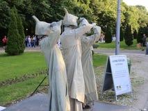 Αγάλματα διαβίωσης απόθεμα βίντεο