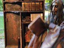 Αγάλματα διαβίωσης - brownie απόθεμα βίντεο