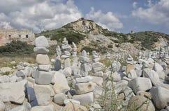Αγάλματα που διαμορφώνονται από τις πέτρες που συσσωρεύονται Στοκ εικόνες με δικαίωμα ελεύθερης χρήσης