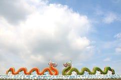Αγάλματα δράκων Στοκ φωτογραφία με δικαίωμα ελεύθερης χρήσης