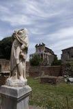 Αγάλματα στο ρωμαϊκό φόρουμ Στοκ εικόνες με δικαίωμα ελεύθερης χρήσης