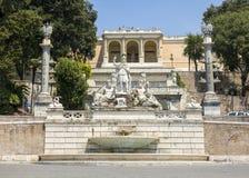 Αγάλματα της θεάς της πηγής της Ρώμης Στοκ φωτογραφίες με δικαίωμα ελεύθερης χρήσης