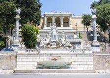 Αγάλματα της θεάς της πηγής της Ρώμης Στοκ εικόνες με δικαίωμα ελεύθερης χρήσης