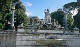 Αγάλματα της πηγής της θεάς της Ρώμης Στοκ Φωτογραφίες