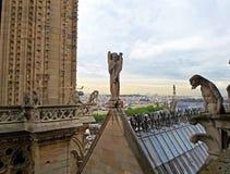 Αγάλματα του αγγέλου και των χιμαιρών Στοκ Εικόνα