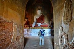 Αγάλματα του Βούδα στο ναό σε Bagan, το Μιανμάρ Στοκ Φωτογραφία