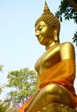 Αγάλματα του Βούδα στο ναό στην Ταϊλάνδη Στοκ εικόνα με δικαίωμα ελεύθερης χρήσης