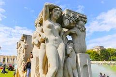 Αγάλματα του Παρισιού Στοκ Φωτογραφία