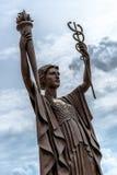 Αγάλματα τράπεζας Κεντρικής Τράπεζας των ΗΠΑ στην πόλη του Κάνσας Στοκ φωτογραφία με δικαίωμα ελεύθερης χρήσης