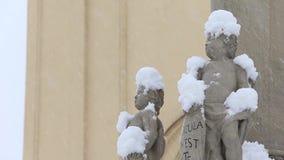 Αγάλματα των αγγέλων απόθεμα βίντεο