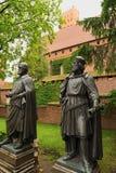 Αγάλματα των μεγάλων κυρίων των τευτονικών ιπποτών σε Malbork Castle Στοκ εικόνα με δικαίωμα ελεύθερης χρήσης