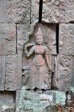 Αγάλματα Apsara στο ναό Preah Khan στην Καμπότζη Στοκ Εικόνα