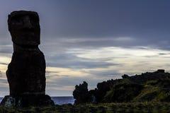 Αγάλματα Moai, νησί Πάσχας, Χιλή Στοκ Εικόνες