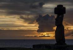 Αγάλματα Moai στο νησί Πάσχας, Χιλή Στοκ Φωτογραφίες