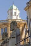 Αγάλματα Sheldonian, Οξφόρδη, Αγγλία Στοκ φωτογραφία με δικαίωμα ελεύθερης χρήσης