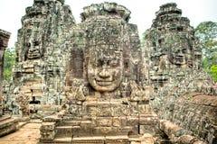 Αγάλματα Wat Angkor Στοκ Φωτογραφίες