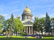 Αγία Πετρούπολη, καθεδρικός ναός του ST Isaak (Isaakievskiy) Στοκ Εικόνες