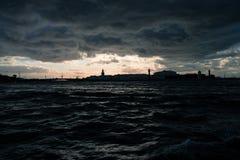 Αγία Πετρούπολη, ποταμός Neva στοκ φωτογραφία με δικαίωμα ελεύθερης χρήσης