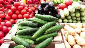 Αγαθά αγοράς αγροτών απόθεμα βίντεο