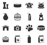 Αγαθά για τα εικονίδια κατοικίδιων ζώων καθορισμένα απεικόνιση αποθεμάτων