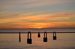 Αγαπήστε τα κλειδώματα Στοκ Εικόνες