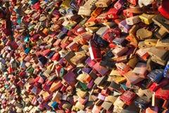 Αγαπήστε τα κλειδώματα Στοκ εικόνα με δικαίωμα ελεύθερης χρήσης