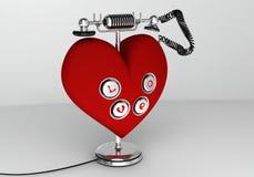 Αγαπήστε το τηλέφωνο Στοκ Εικόνες