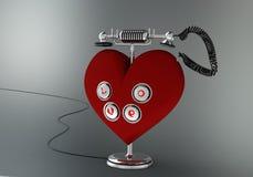 Αγαπήστε το τηλέφωνο Στοκ Εικόνα