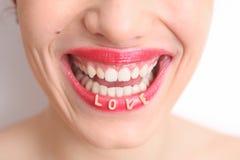 Αγαπήστε το χαμόγελο Στοκ εικόνες με δικαίωμα ελεύθερης χρήσης