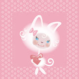 αγαπημένο κορίτσι γατών απεικόνιση αποθεμάτων