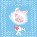 αγαπημένο κορίτσι 2 γατών ελεύθερη απεικόνιση δικαιώματος