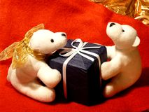 αγαπητός κάνετε παρόντα teddy στοκ φωτογραφίες με δικαίωμα ελεύθερης χρήσης