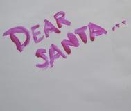 αγαπητό santa Στοκ εικόνα με δικαίωμα ελεύθερης χρήσης