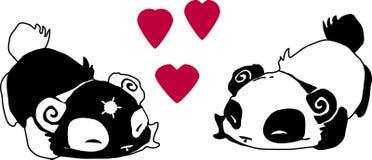ΑΓΑΠΗ Pandas Στοκ φωτογραφία με δικαίωμα ελεύθερης χρήσης