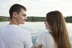 Αγαπώντας ζεύγος ερωτευμένο Στοκ εικόνα με δικαίωμα ελεύθερης χρήσης