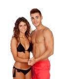 Αγαπώντας ζεύγος σε swimwear Στοκ Φωτογραφίες