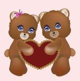 Αγαπώντας teddy αρκούδες ζευγών ελεύθερη απεικόνιση δικαιώματος