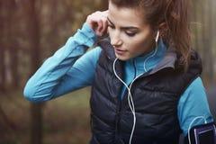 Αγαπώ αυτό το τραγούδι για το τρέξιμο Στοκ φωτογραφία με δικαίωμα ελεύθερης χρήσης