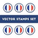 Αγαπώ τα διανυσματικά γραμματόσημα της Μαρτινίκα καθορισμένα Στοκ Εικόνα