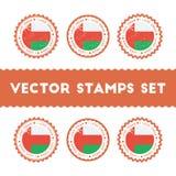Αγαπώ τα διανυσματικά γραμματόσημα του Ομάν καθορισμένα Στοκ Εικόνα