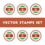 Αγαπώ τα διανυσματικά γραμματόσημα του Σουρινάμ καθορισμένα Στοκ φωτογραφία με δικαίωμα ελεύθερης χρήσης