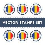 Αγαπώ τα διανυσματικά γραμματόσημα του Chad καθορισμένα Στοκ εικόνα με δικαίωμα ελεύθερης χρήσης