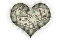 αγαπώ τα χρήματα απεικόνιση αποθεμάτων