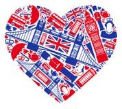 Αγαπώ την Αγγλία! διανυσματική απεικόνιση