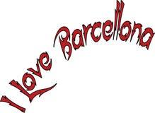 Αγαπώ την απεικόνιση σημαδιών κειμένων Barcellona Στοκ εικόνες με δικαίωμα ελεύθερης χρήσης