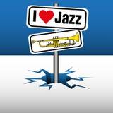 Αγαπώ την τζαζ απεικόνιση αποθεμάτων