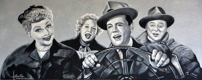 Αγαπώ την τοιχογραφία της Lucy Στοκ φωτογραφίες με δικαίωμα ελεύθερης χρήσης