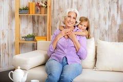 Αγαπώ τη γιαγιά μου Στοκ εικόνα με δικαίωμα ελεύθερης χρήσης